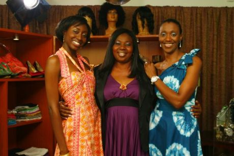 Lizzy (middle) with hosts Zainab and Isioma